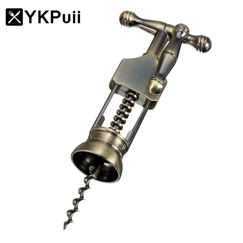 YKPuii Zink-legierung Rotwein Opener Luftdruck Edelstahl Pin Typ Flasche Pumpen Korkenzieher Cork Out-Tool