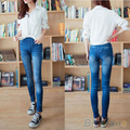 90CM Womens Printed Imitated Jeans Skinny Stretchy Jeggings Pants Leggingshot