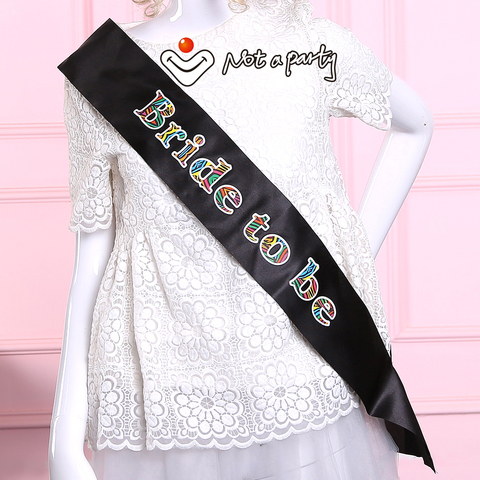 Sister of the bride sash bridesmaid mother of the groom hen bachelorette party  wedding events supplies Multan