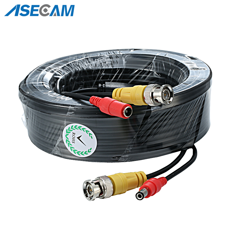 High Quality BNC Video Cable Security CCTV Camera DC Power Copper Core AHD CVI Surveillance DVR System Installation Accessories