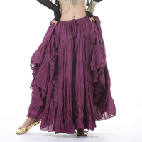 Long Gypsy Skirt Belly Dance Skirts Women Tribal Belly Dance Professional Skirt 16 Meters Hemline ATS Skirts Dance Wear Adult