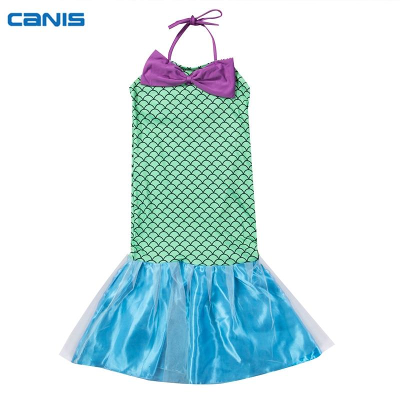 Kids Cute Sequin Mermaid Design Girls Dress Princess