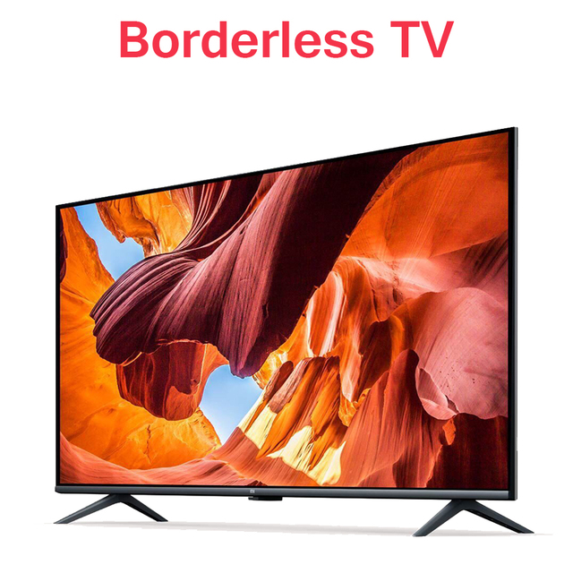 Original Xiaomi Tv 43 inches E43A Borderless Full HD Screen TV Set 1GB+8GB Memory Anti-Static AI Voice Control Dolby Sound DTS 1