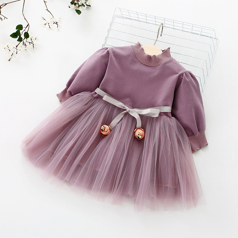 HTB1e0nwezgy uJjSZPxq6ynNpXal - Fashion stitching Baby Girl Dress Long sleeve spring Dresses for 0-24 month Girls Clothes Vestido Infantil Newborn Baby Clothing