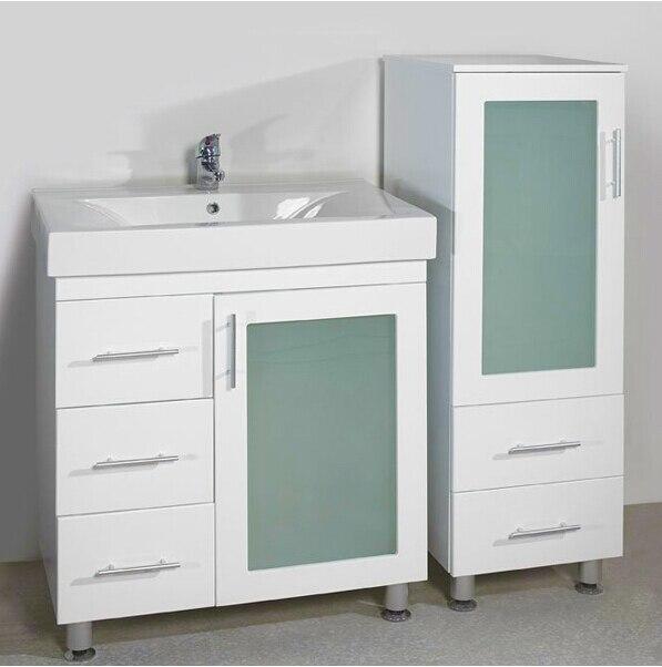 Mdf modernos mueble de baño blanco montado en el piso batnroom ...