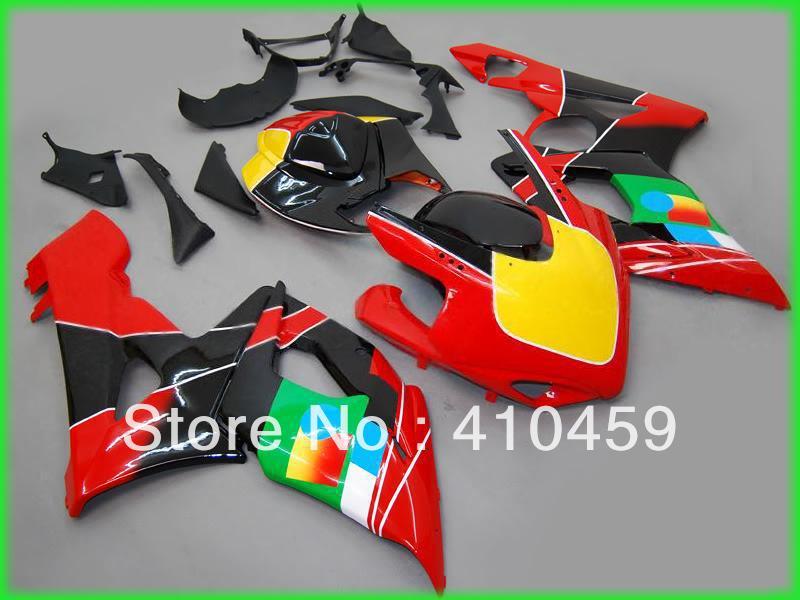 Injeection 型スズキ GSXR1000 GSX R1000 GSXR 1000 K5 05 06 2005 2006 ホットレッド Abs フェアリングセット SN35  グループ上の 自動車 &バイク からの カバー & オーナメント作り の中 2