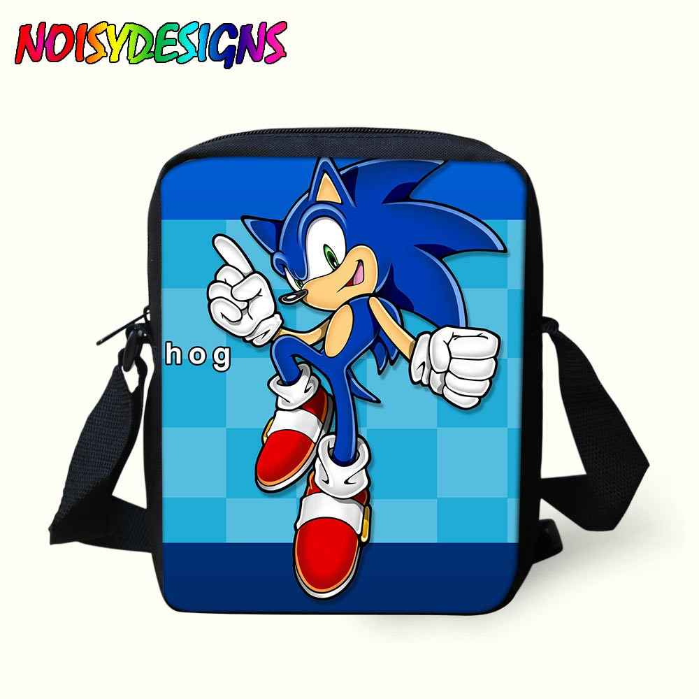Sonic the Hedgehog Mini Messenger Bag Boys Girls Crossbody Bag Handbag Kids  Shoulder Bags School Supplies bd595df32ad77
