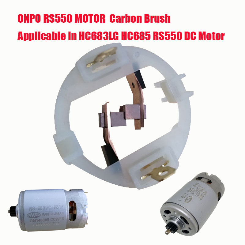 ONPO RS550 HC683LG HC685LG DC MOTOR Carbon brush FOR Electric Drill Brush AND Electric screwdriver Maintenance Replacement partsONPO RS550 HC683LG HC685LG DC MOTOR Carbon brush FOR Electric Drill Brush AND Electric screwdriver Maintenance Replacement parts