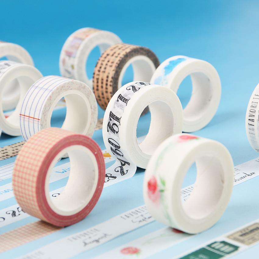 1.5CM Wide Traveller Series Paper Washi Tape Adhesive Tape DIY Scrapbooking Sticker Label Masking Tape Student Stationery Gift