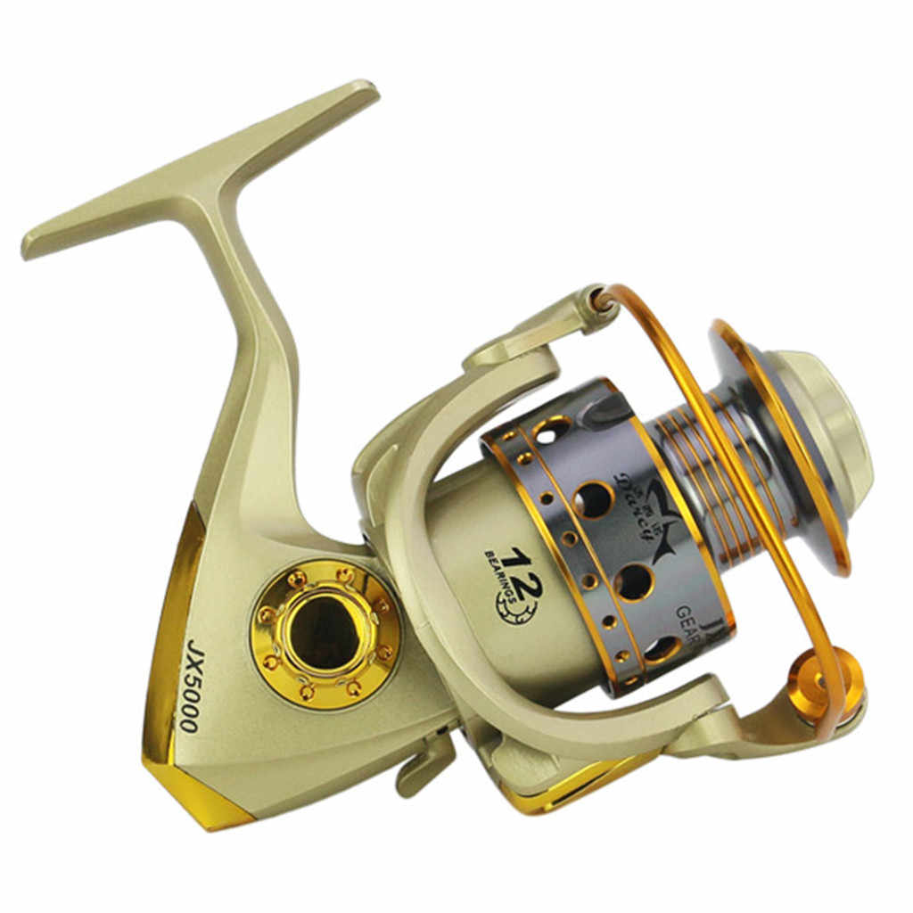 عجلات الأسماك الغزل بكرة 5.5: 1 Carretilhas Pescaria Molinete JX1000-7000series