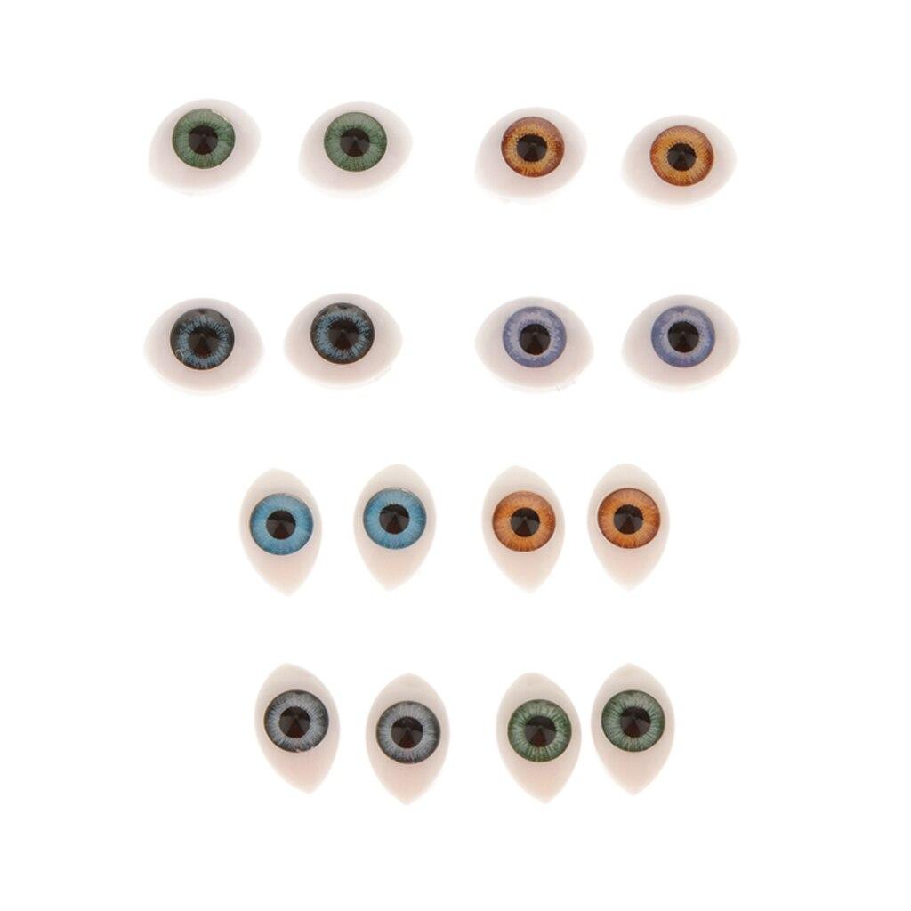 Пластиковые овальные глазки, 16 шт., для кукла в маске, медведя, для изготовления игрушек, 5 мм, 6 мм Куклы      АлиЭкспресс