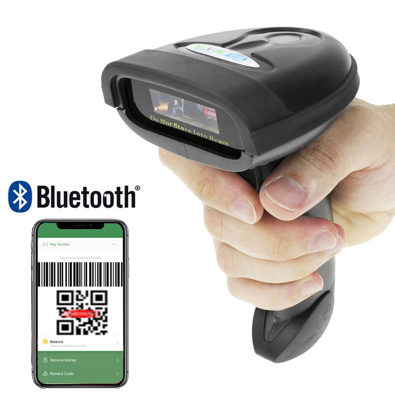 HW L98 Handheld Wireless Barcode Scanner And HW L28BT Bluetooth 1D/2D QR Bar Code Reader Support Android iOS iPad Windows