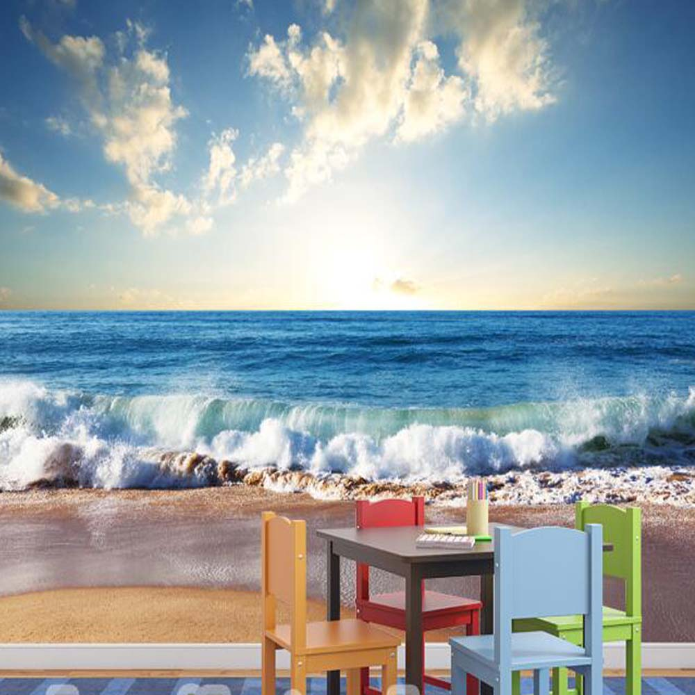 compare prices on 3d beach wallpaper online shopping buy low 3d mural wallpaper sea beach photo murals landscape wallpapers for sitting room papel de parede wall