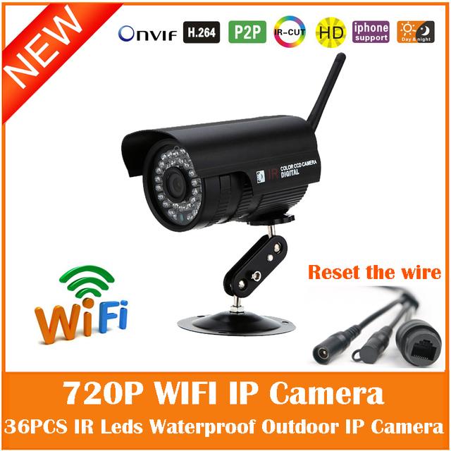 1.0mp câmera ip sem fio wi-fi hd 720 p bala impermeável ao ar livre segurança motion detection mini webcam freeshipping venda quente