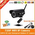 Hd Wi-Fi 720 P Пуля Ip-камера 1.0mp Беспроводной Открытый Водонепроницаемый Безопасности Motion Detection Mini Веб-Камера Freeshipping Горячей Продажи