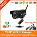 Hd wifi 720 p cámara bullet ip 1.0mp wireless motion detección mini webcam seguridad impermeable al aire libre freeshipping de la venta caliente