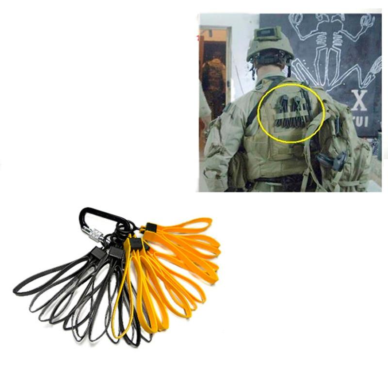 TMC0397 Tactical Plastic Cable Tie Strap Handcuffs CS Decorative Belt Yellow Black (1set/3pcs)