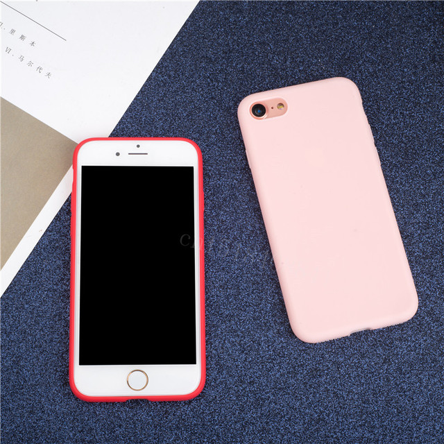 Luxury Soft Back Matte Color Cases for iPhone 7 plus 8 6 6s X XS max XR 5 5s SE Case Shockproof TPU Silicone Back Cover Capa 2