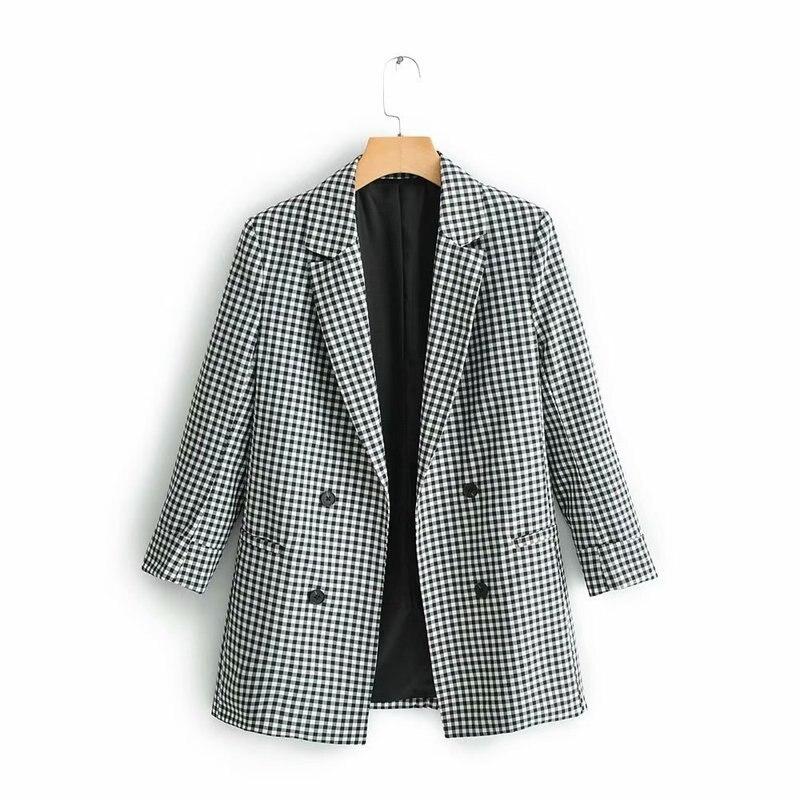 XQ9 60 9031 европейский и американский модный черно белый костюм в клетку куртка