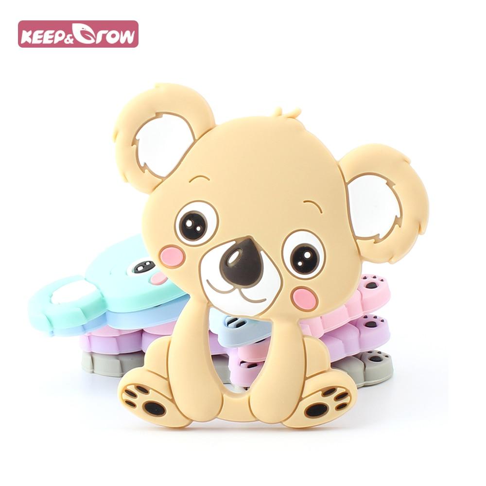 Keep&Grow Koala Baby Teethers BPA Free 1Pc Food Grade Silicone Teether Chewable Nursing Necklace Pendant Baby Teething Toys