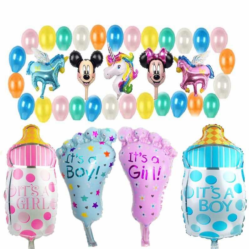 8fd69329 Мини мультфильм животных Единорог вечерние Детские торт алюминиевый шар на  день рождения воздушные шары оптовая продажа