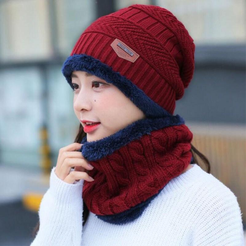 Seioum Women Beanies Knit Hat Winter Cap For Man Knitted Cap Boys Thicken Hedging Cap Balaclava Skullies Fashion Warm Knit