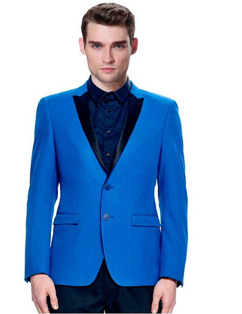 font b Custom b font font b Made b font Royal Blue Groom Tuxedos Black