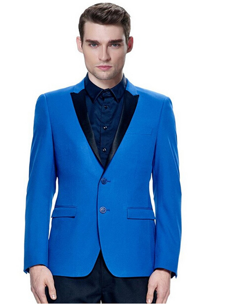 Online Get Cheap Black and Royal Blue Prom Suits for Men ...