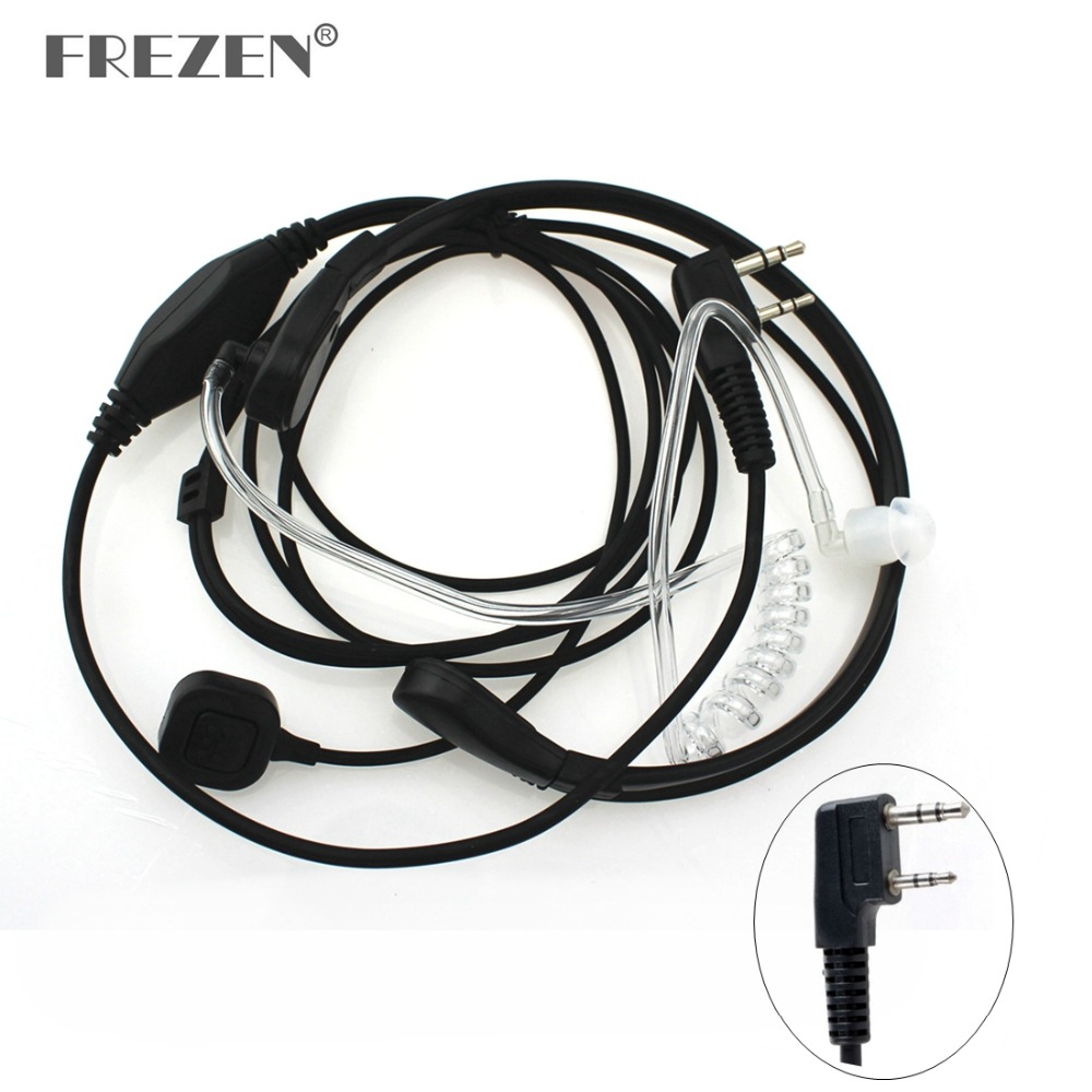 Throat Microphone Mic PTT Laryngofon Air Tube Headset Earpiece For Baofeng Walkie Talkie CB Radio UV-5R UV B5 GT-3TP UV-5X