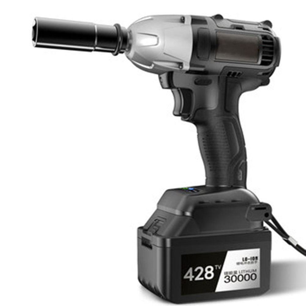 Cordless Electric Impact Wrench Drill 380n M Lithium Ion Battery Brushless Tool Nut High Torque