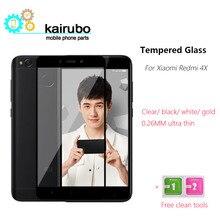 10PCS/LOT xiaomi redmi 4x glass tempered redmi4x screen protector 9H 2.5D full cover protective flim