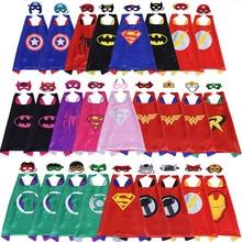 70 70cm Superhero Capes Costume Black Cape Superman Spiderman Superhero Capes Cosplay Party Halloween Best Gift