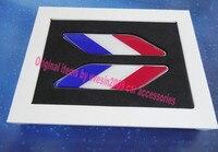 2pcs Car France French Flag Fender Side Wing Emblem Badge Sticker