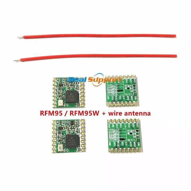 RFM95 RFM95W 868 915 RFM95-868MHz RFM95-915MHz LORA SX1276 беспроводной модуль приемопередатчика с проволочная антенна FCC ROHS ETSI достичь