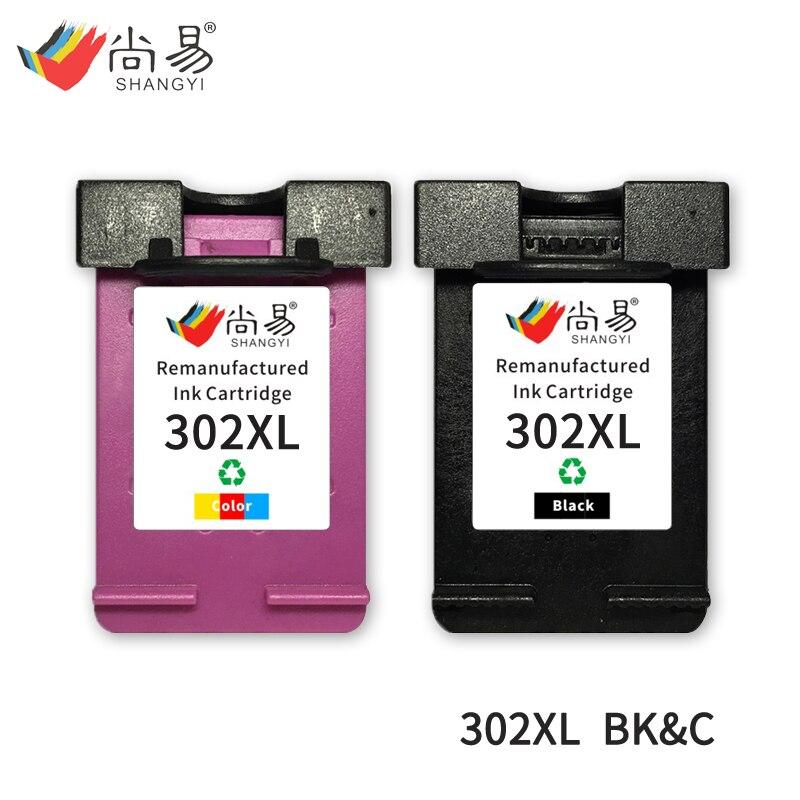 Shangyi 302 XL Cartuccia di Inchiostro di ricambio Per HP Deskjet 2130 2135 1110 3630 3632 Officejet 3830 stampante