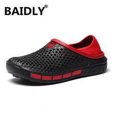 Męskie sandały klapki na lato buty moda chodaki ogrodowe plażowe sandały na co dzień płaskie klapki kapcie wody mężczyźni Hollow buty tanie tanio Dla dorosłych Gladiator Slip-on SHUNAN--161-12 Mieszane kolory LEISURE Płytkie Pasuje prawda na wymiar weź swój normalny rozmiar