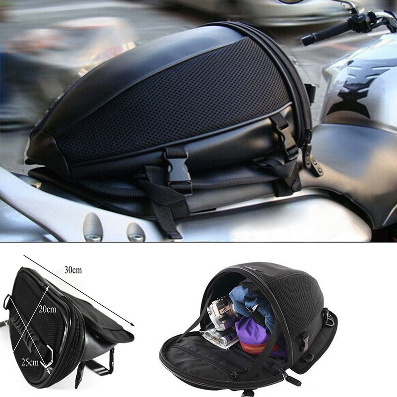 Motorcycle Bike Sports Waterproof Back Seat Carry Bag Luggage Tail Bag Saddlebag ...