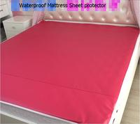 200x150cm Waterproof Mattress Sheet Protector Pad Cover Bed Washable Adults Children Kids Faux Leather Waterproof Urine Mat