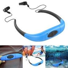 Resistente al agua Deporte Reproductor de MP3 4 GB 8 GB Submarino Cabeza Con cabeza Estéreo MP3 con Radio FM para la Natación surf Buceo