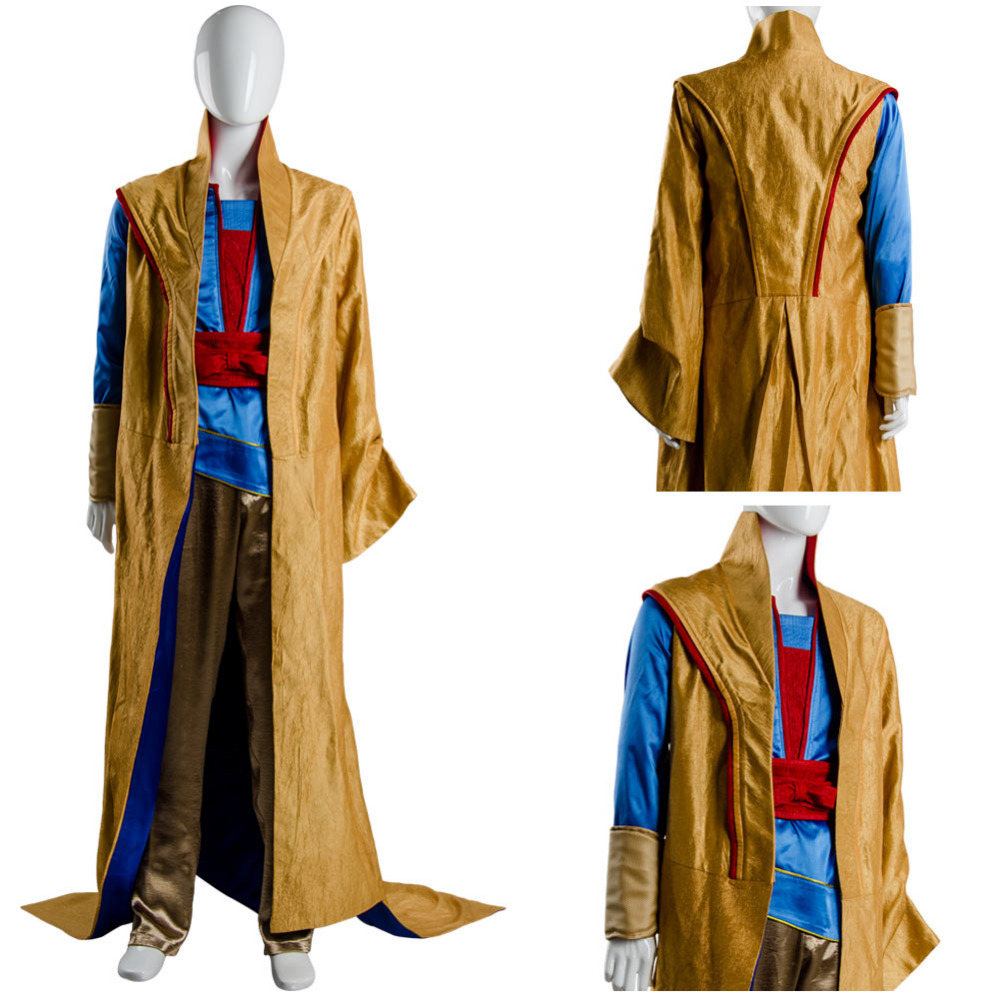Thor 3 Costume Ragnarok Grandmaster En Dwi Gast Robe Cosplay Costume Coat Pants Shirt Belt