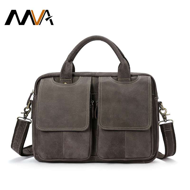 MVA Men's Briefcases men's leather male man Laptop bag 14inch business Crossbody bags men Shoulder Bags Genuine Leather ZZ-10 fushan genuine leather men bag men s briefcases 14inch leather laptop bag business male men travel tote crossbody bags
