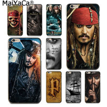 MaiYaCa Pirates of the Caribbean Johnny Depp Luxury High-end phone Case for Apple iPhone 8 7 6 6S Plus X 5 5S SE XS XR XS MAX(China)