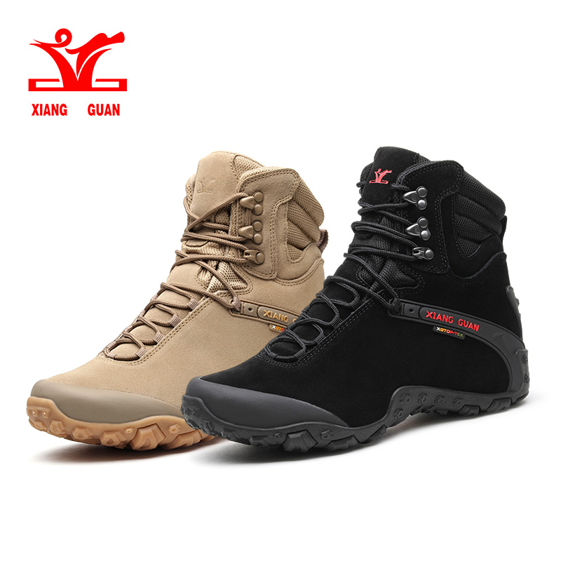 Xiang Guan New Winter Men Boots Warm Waterproof Sneakers Outdoor Unisex Athletic Sport Shoes Comfortable Hiking Shoes Hot Sale winter men s outdoor warm cotton hiking sports boots shoes men high top camping sneakers shoes chaussures hombre