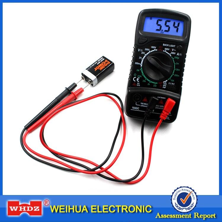 XL830L Digital Multimeter Portable  AC/DC Voltmeter DC Ammeter resistance tester Blue Backlight Free Shipping Multimeters     - title=