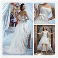 2016  New Wedding Dress Bead Sashes Brilliant Vestido de Noiva Casamento bridal dress