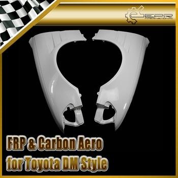 Toyota 100 mark ii dm 스타일 일반 버전 frp 섬유 유리 전면 벤트 펜더 + 15mm 유리 섬유 휠 플레어 용 자동차 액세서리