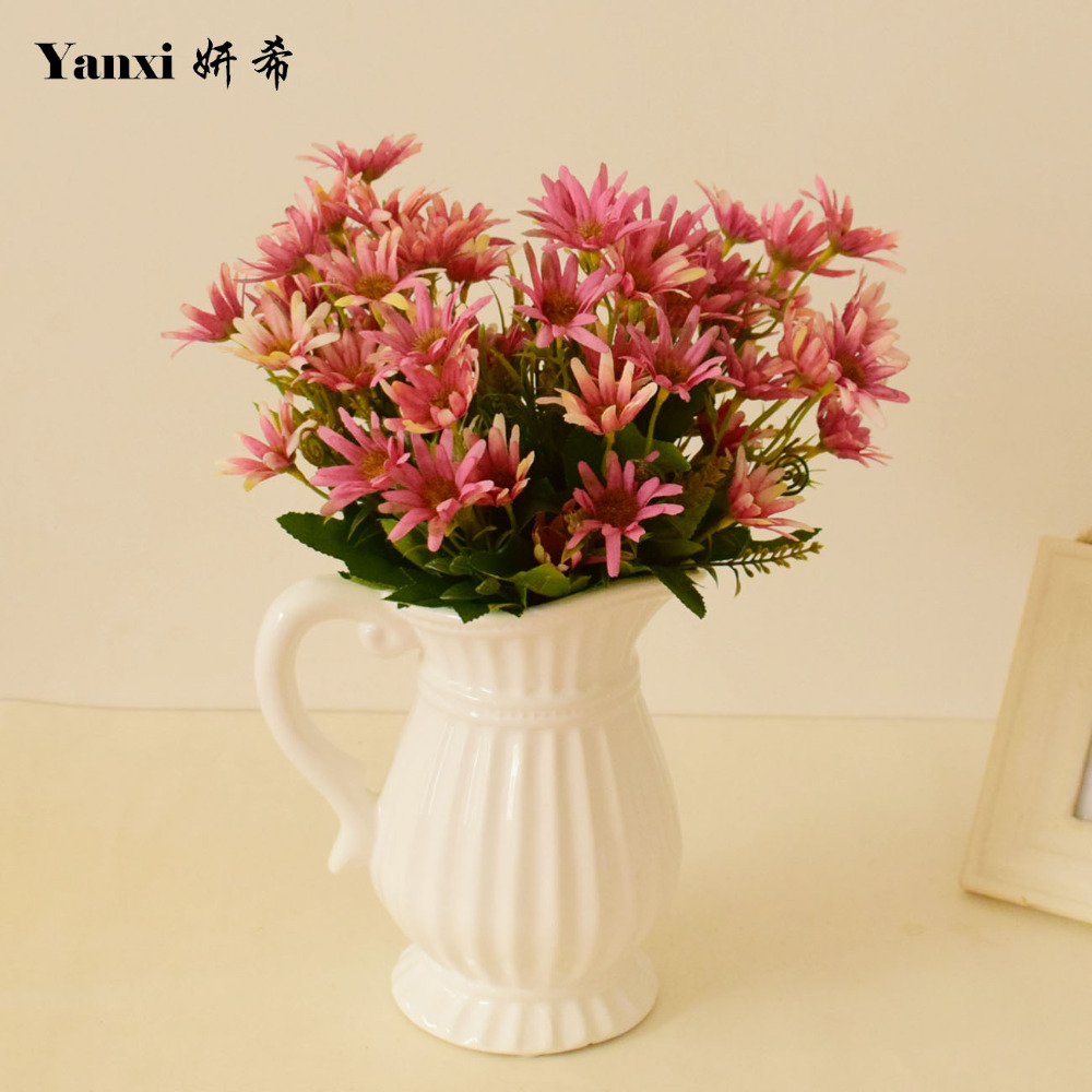 Red artificial daisy promotion shop for promotional red artificial silk daisy artificial flowers for home office living room vase wedding garland decorations white blue purple red fake bouquets dhlflorist Gallery
