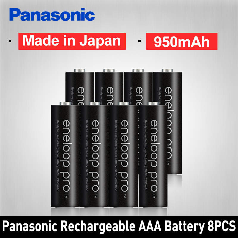 Panasonic Pro Original AAA Rechargeable Battery High Capacity 950mAh Batteries 8PCS/LOT Eneloop NI-MH Pre-charged Battery r03 aaa eneloop lite ni mh 550mah 4 panasonic 5410853052760
