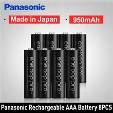 Panasonic Pro Original AAA Rechargeable Battery High Capacity 950mAh Batteries 8PCS/LOT Eneloop NI-MH Pre-charged Battery