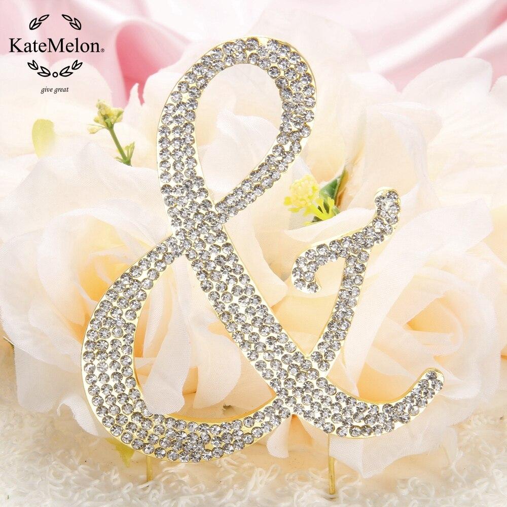 KateMelon Wedding Accessories Monogram Wedding Cake Topper, Letter ...